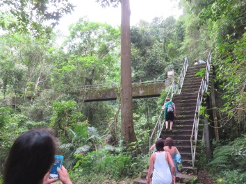 VERY steep stairs